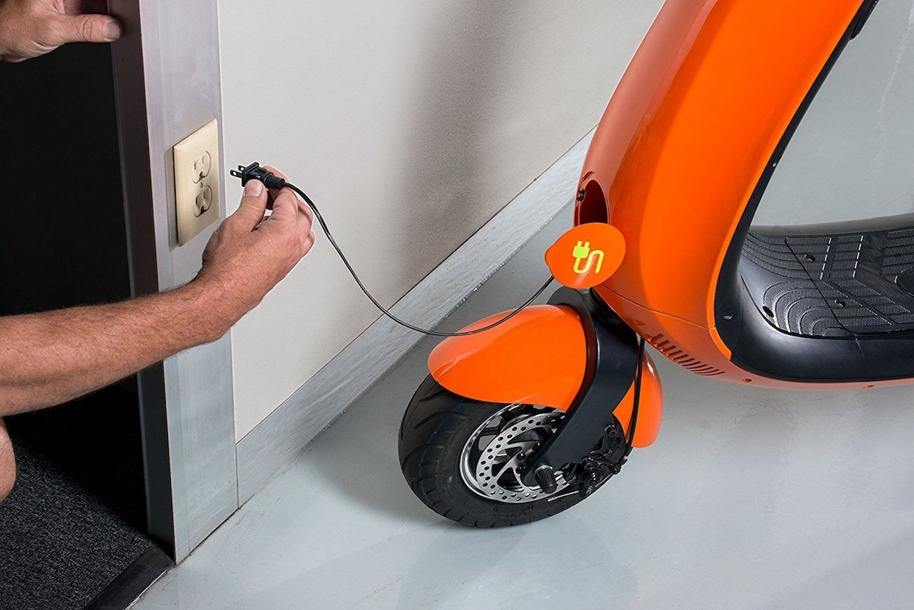 OJO, scooter, electric scooter, charging