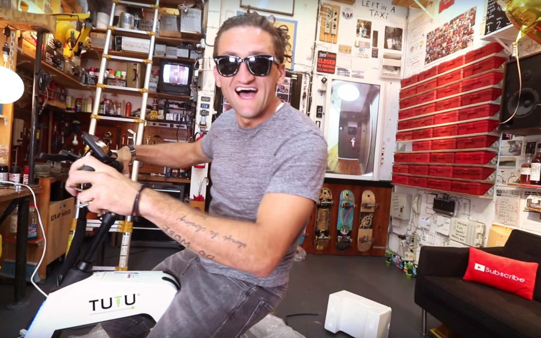 YouTuber Casey Neistat Takes Tutu Out For A Spin in NYC