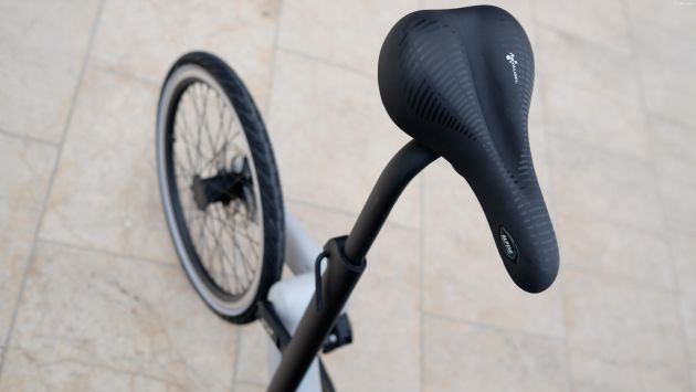 Jivr, small bicycle, small electric bicycle, seat